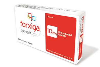 Forxiga is a once-daily oral tablet that can be taken at any time of day with or without food.