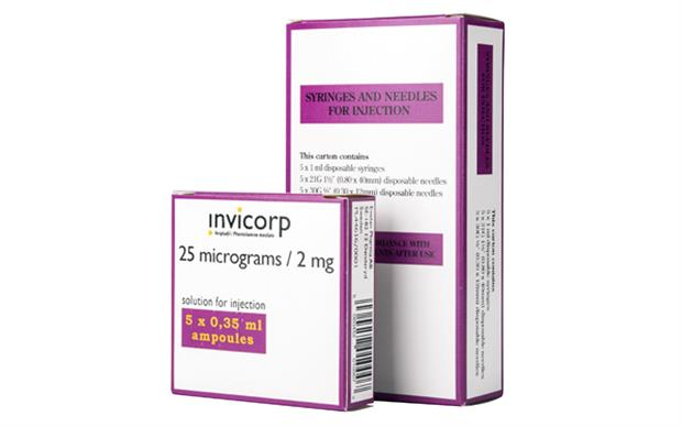 After suitable training, patients may self-inject Invicorp at home.