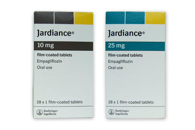 The initial dose of Jardiance (empagliflozin) is 10mg once daily with or without food.