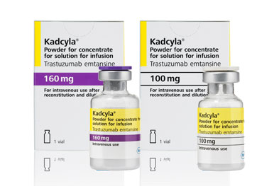 Kadcyla is administered as an intravenous infusion every 21 days until disease progression or unacceptable toxicity.