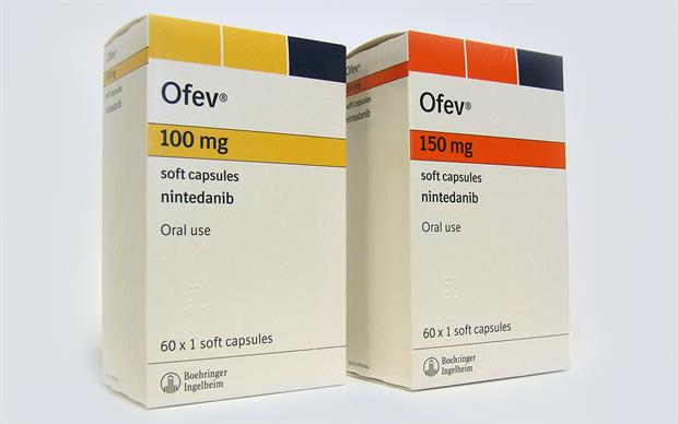 Ofev should be taken with food, swallowed whole with water and should not be chewed or crushed.