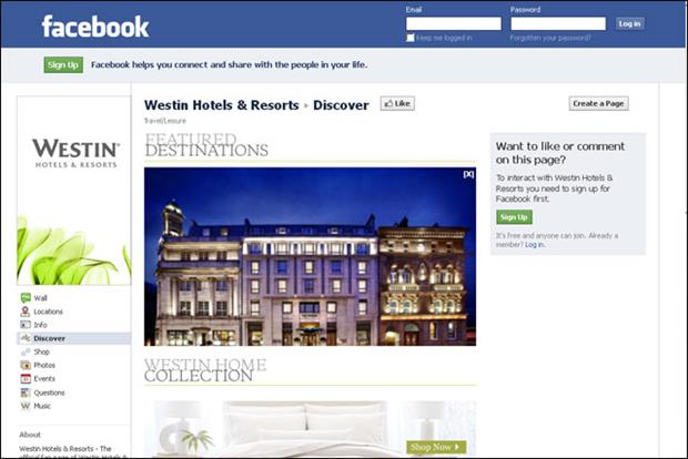Starwood Hotels: offers customer reviews and ratings on the Westin Facebook page