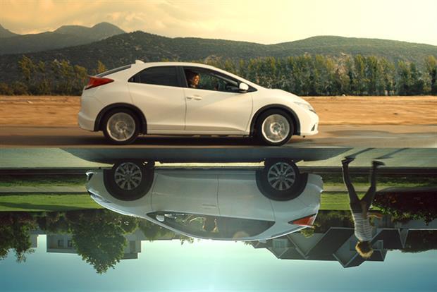 Honda: new Civic TV ad employs rotating technique