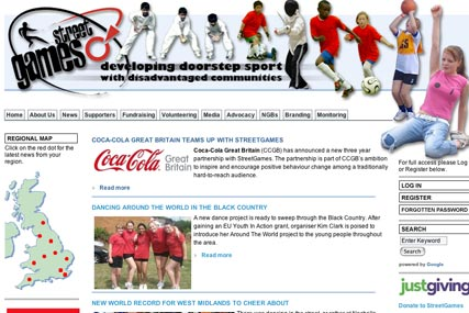 Coca-Cola: three-year partnership with StreetGames charity