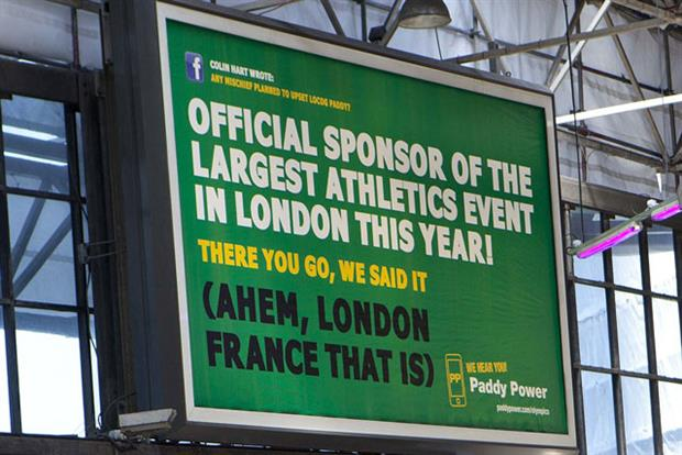 Paddy Power: King's Cross station billboard