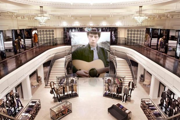 Burberry Regent Street: new store incorporates multimedia interactivity