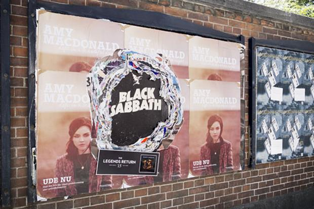 Black Sabbath: rolls out poster campaign in Copenhagen