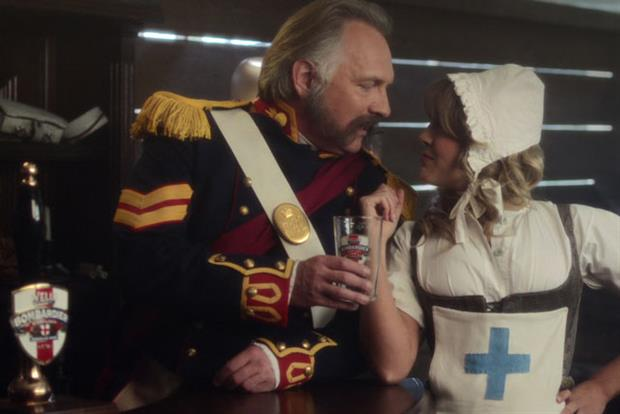 Wells Bombardier: Rik Mayall stars in the TV campaign