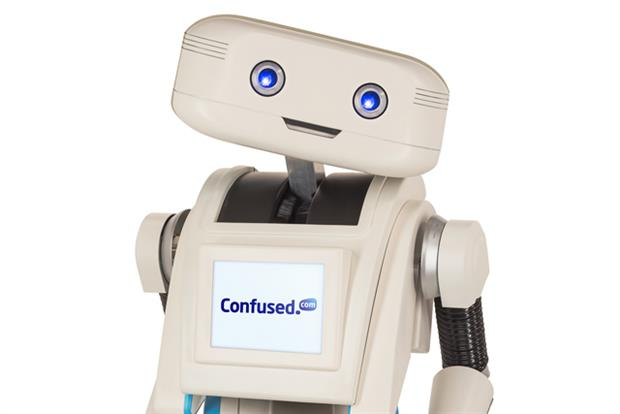 Confused.com: new robot brand character called Brian