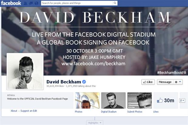 David Beckham: Facebook event promotes his book launch