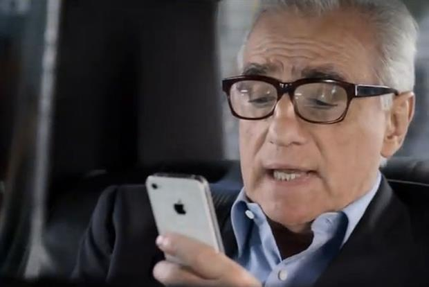 Martin Scorsese: stars in 2012 Apple iPhone commercial