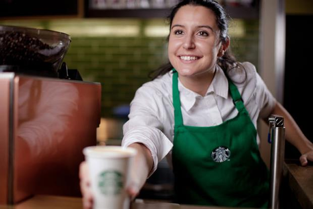 Starbucks: reported rise in sales of lattes and cappuccinos