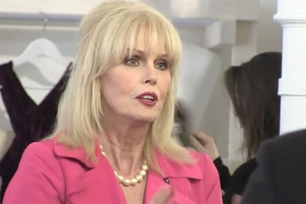 Joanna Lumley: fronts the M&S 'schwopping' campaign