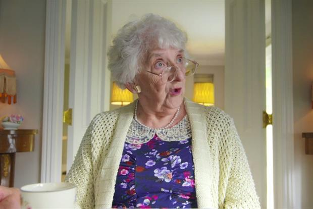 Fruittella TV ad: granny tells shocked family she wants to 'get pregnant'
