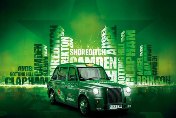 Heineken: Star Cabs competition offers drinkers free London taxi rides