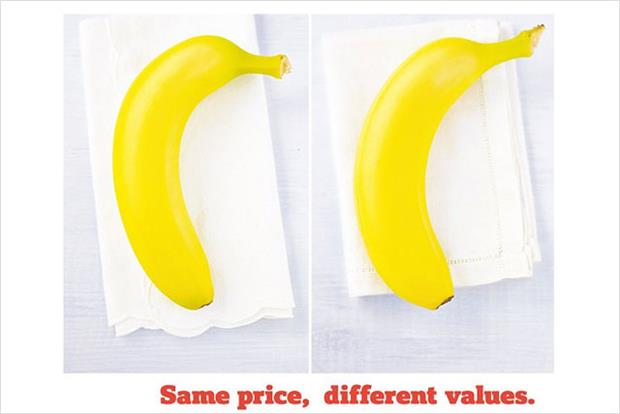 "Sainsbury's: ""same price, different values"" campaign"