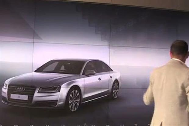 Audi City: uses Microsoft's Kinect motion-sensing technology