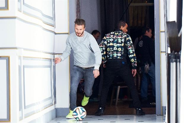 David Beckham: stars in Adidas' 'house party'