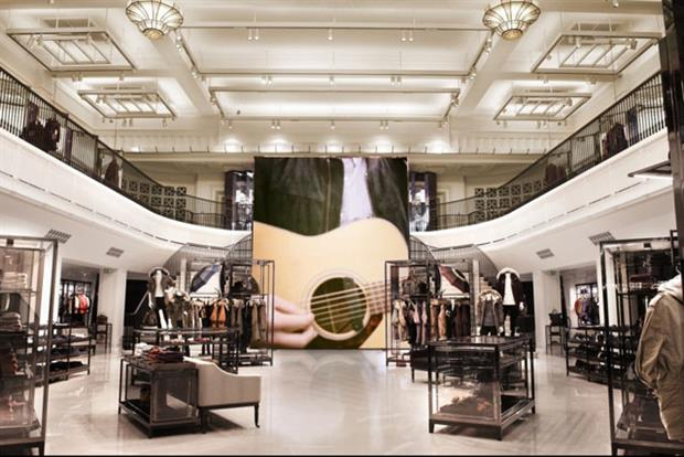 Burberry: the luxury retailer's flagship store in London's Regent Street