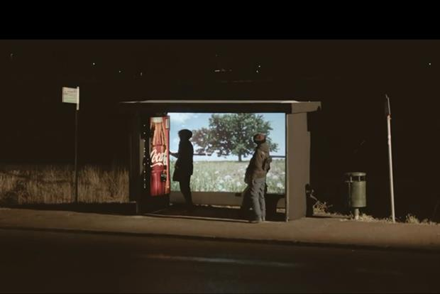 Coke gives Swedes at bus stop a taste of summer