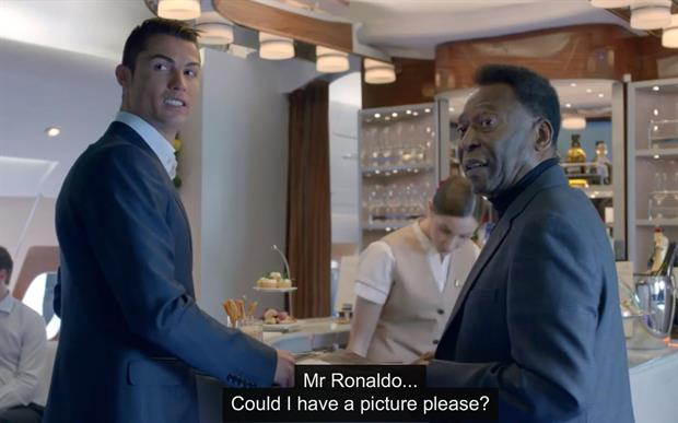 Emirates viral: Football legends Ronaldo and Pele