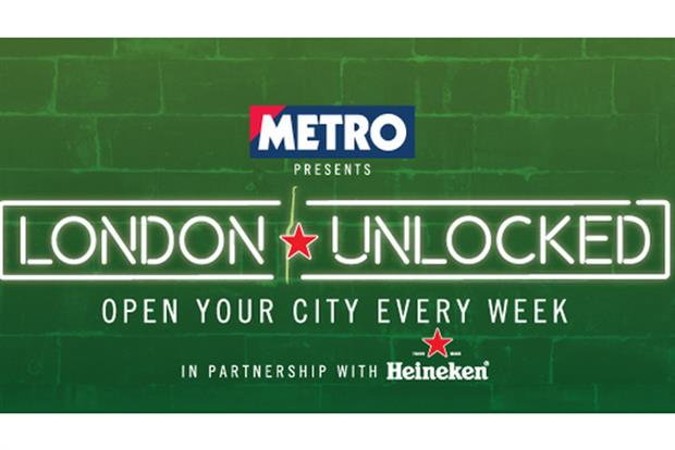 Heineken: links up with Metro for 'Open Your City' drive