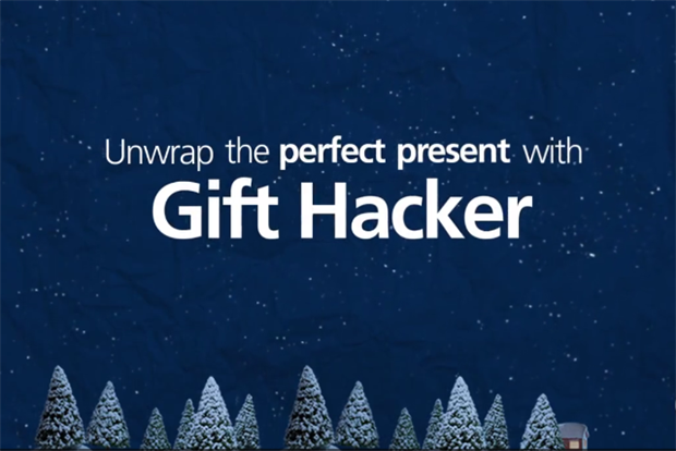 O2 gift hacker christmas app, digital, shopper marketing, vivid brand