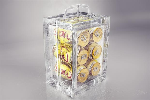 Skol: the lager brand has created real ice packaging for European World Cup fans