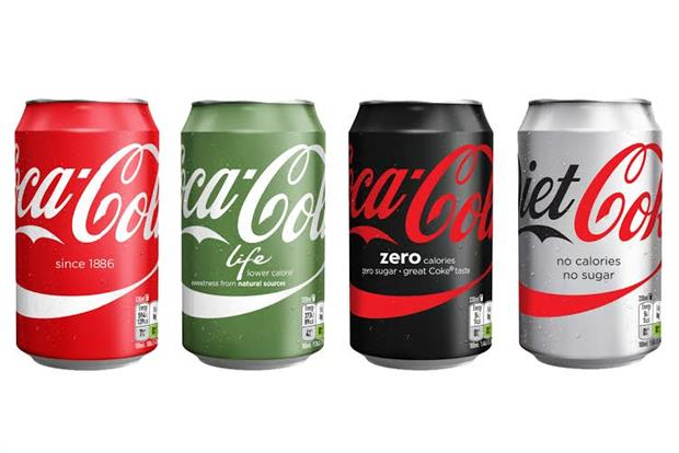 Coca-Cola: marketing all variants under master brand