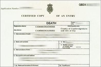 Sample of death certificate uk choice image certificate design sample of death certificate uk gallery certificate design and sample of death certificate uk image collections yadclub Gallery