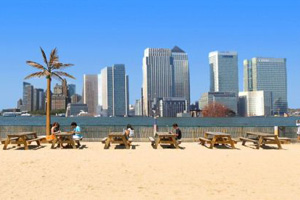 Event exclusive: Greenwich temporary beach reserved for Olympic corporate events