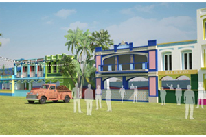 Artistic impression of the Carnival area