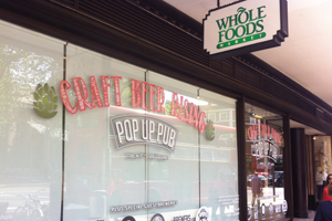 Whole Foods houses Craft Beer Rising pop-up pub