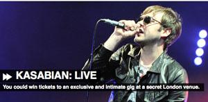 bsolute Radio to stage secret Kasabian gig