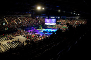 Crown produced the Olympic volunteer events at Wembley Arena