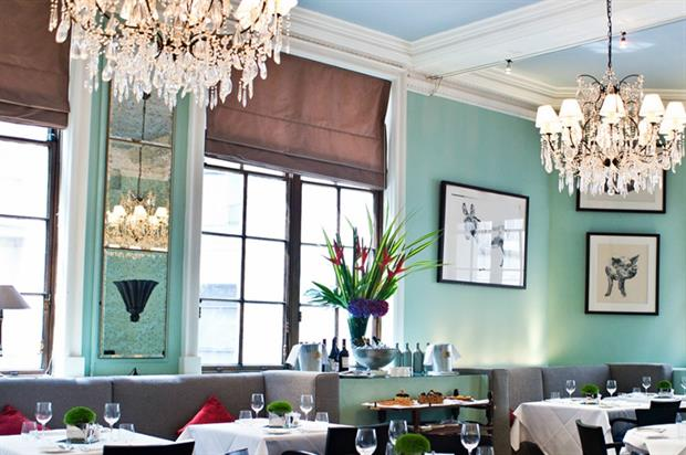 Fine dining restaurant 1776 is a more intimate space featuring chandeliers