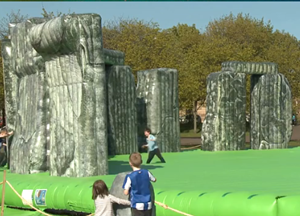 The inflatable replica of Stonehenge