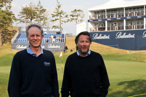 Greg Lawless and Paul Berger at Ballantine's in South Korea