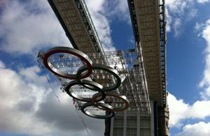 The rings on Tower Bridge
