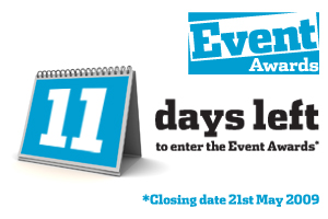Only 11 days left to enter the Event Awards