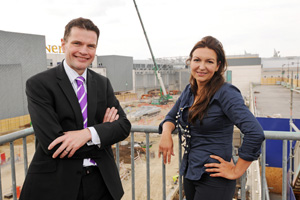 General manager Andrew Parkinson and venue director Rebecca Cardozo