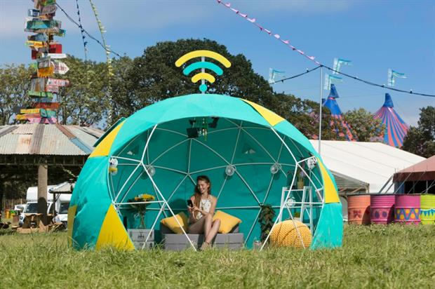 EE to unveil '4GEE Smart Tent' at Glastonbury