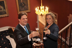 Dine MD Daniel Gill with Sarah Beeny