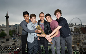 The Wanted supporting Olympic torchbearers