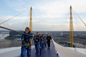 Climbers on route to the Up at The O2 summit