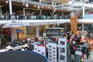Fusion's display, including a 24ft climbing wall