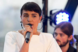 Jessie Ware performs at The Gherkin for Zico
