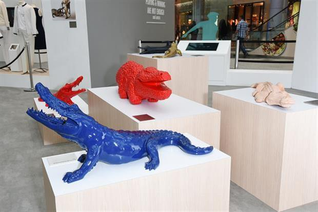 Lacoste's brand heritage exhibition at Westfield London