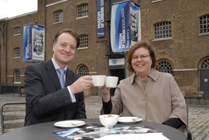 Paul Jackson , Managing Director for Ampersand and Elizabeth James, Head of Corporate Hospitality at the Museum of London Docklands