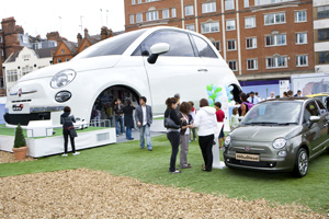 Fiat attracts 55,000 people to Oxford Street event